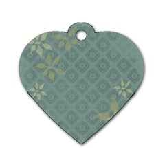 Shadow Flower Dog Tag Heart (two Sides) by Jojostore