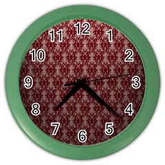 Red Vintage Color Wall Clocks by Jojostore