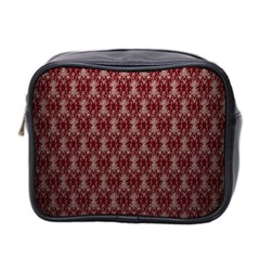 Red Vintage Mini Toiletries Bag 2 Side