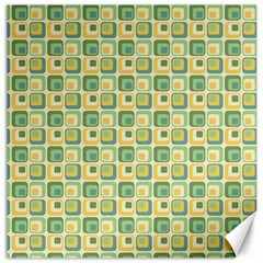 Square Green Yellow Canvas 12  X 12   by Jojostore