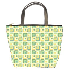 Square Green Yellow Bucket Bags