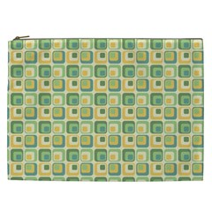 Square Green Yellow Cosmetic Bag (xxl)  by Jojostore