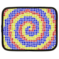 Red Blue Yellow Netbook Case (large) by Jojostore