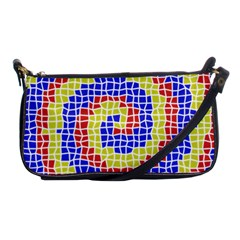 Red Blue Yellow Shoulder Clutch Bags by Jojostore