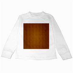 Simple Wood Widescreen Kids Long Sleeve T Shirts