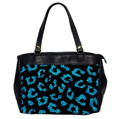 Skin5 Black Marble & Turquoise Marble (r) Oversize Office Handbag by trendistuff