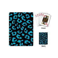 Skin5 Black Marble & Turquoise Marble (r) Playing Cards (mini) by trendistuff