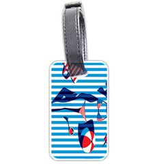 Sunbathing On The Beach Luggage Tags (two Sides)