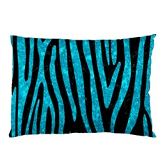 Skin4 Black Marble & Turquoise Marble (r) Pillow Case (two Sides) by trendistuff
