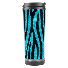 Skin4 Black Marble & Turquoise Marble Travel Tumbler by trendistuff