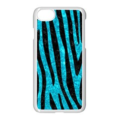 Skin4 Black Marble & Turquoise Marble Apple Iphone 7 Seamless Case (white)