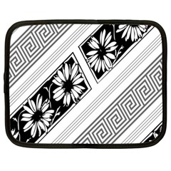 Stripe Seamless Flower Netbook Case (large)