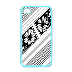 Stripe Seamless Flower Apple Iphone 4 Case (color)