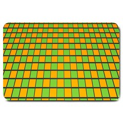 Tile Of Yellow And Green Large Doormat