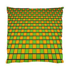 Tile Of Yellow And Green Standard Cushion Case (one Side) by Jojostore