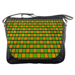 Tile Of Yellow And Green Messenger Bags
