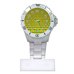 Tile Of Yellow And Green Plastic Nurses Watch by Jojostore
