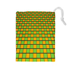 Tile Of Yellow And Green Drawstring Pouches (large)