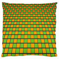 Tile Of Yellow And Green Standard Flano Cushion Case (two Sides)