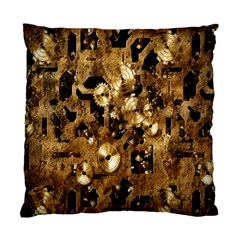 Steampunk Grunge Gold Cogs Standard Cushion Case (one Side)