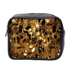 Steampunk Grunge Gold Cogs Mini Toiletries Bag 2-side