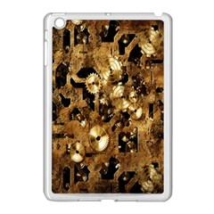 Steampunk Grunge Gold Cogs Apple Ipad Mini Case (white) by Jojostore