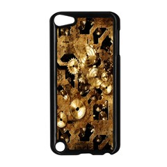 Steampunk Grunge Gold Cogs Apple Ipod Touch 5 Case (black) by Jojostore