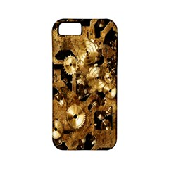 Steampunk Grunge Gold Cogs Apple Iphone 5 Classic Hardshell Case (pc+silicone) by Jojostore