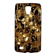 Steampunk Grunge Gold Cogs Galaxy S4 Active by Jojostore