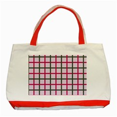 Tiles On Light Pink Classic Tote Bag (red)