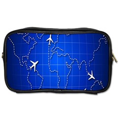 Unique Air Travel World Map Blue Sky Toiletries Bags by Jojostore
