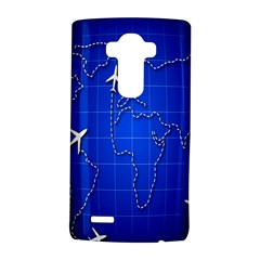 Unique Air Travel World Map Blue Sky Lg G4 Hardshell Case by Jojostore
