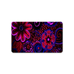 Sunset Floral Flower Red Pink Jewel Box Magnet (name Card) by Jojostore