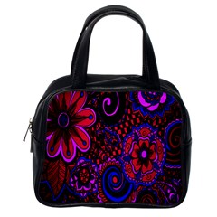Sunset Floral Flower Red Pink Jewel Box Classic Handbags (one Side) by Jojostore