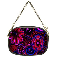 Sunset Floral Flower Red Pink Jewel Box Chain Purses (one Side)  by Jojostore