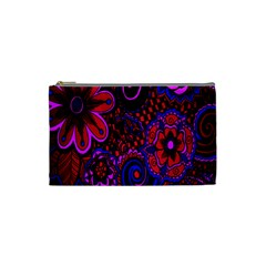 Sunset Floral Flower Red Pink Jewel Box Cosmetic Bag (small)  by Jojostore