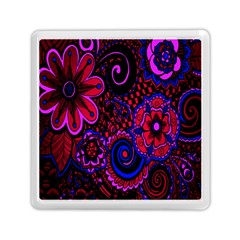 Sunset Floral Flower Red Pink Jewel Box Memory Card Reader (square)  by Jojostore