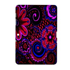 Sunset Floral Flower Red Pink Jewel Box Samsung Galaxy Tab 2 (10 1 ) P5100 Hardshell Case  by Jojostore