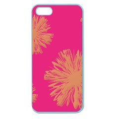 Yellow Flowers On Pink Background Pink Apple Seamless Iphone 5 Case (color) by Jojostore