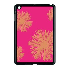 Yellow Flowers On Pink Background Pink Apple Ipad Mini Case (black)
