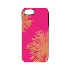 Yellow Flowers On Pink Background Pink Apple Iphone 5 Classic Hardshell Case (pc+silicone) by Jojostore