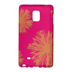 Yellow Flowers On Pink Background Pink Galaxy Note Edge by Jojostore