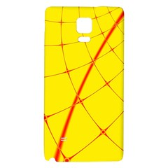 Yellow Redmesh Galaxy Note 4 Back Case by Jojostore