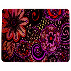 Sunset Floral  Flower Purple Jigsaw Puzzle Photo Stand (rectangular) by Jojostore
