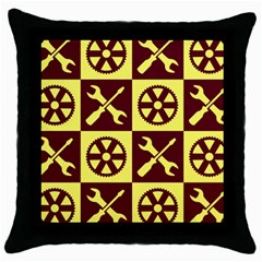Engineering Throw Pillow Case (black)