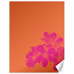 Flower Orange Pink Canvas 12  X 16   by Jojostore