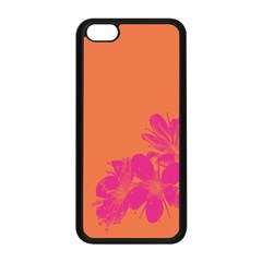 Flower Orange Pink Apple Iphone 5c Seamless Case (black)