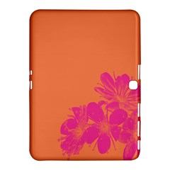Flower Orange Pink Samsung Galaxy Tab 4 (10 1 ) Hardshell Case  by Jojostore