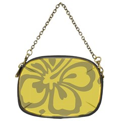 Flower Gray Yellow Chain Purses (one Side)  by Jojostore