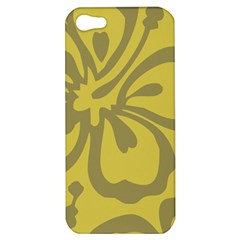 Flower Gray Yellow Apple Iphone 5 Hardshell Case by Jojostore